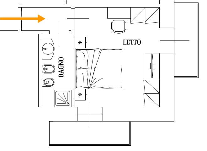 Beautiful Planimetria Camera Da Letto Gallery - House Design Ideas ...